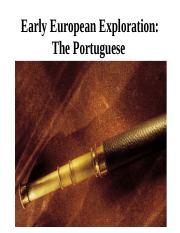 Early European Exploration The Portuguese