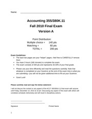 2010 final exam answers