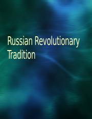 PP 5.2 Russian Revolutionary Tradition
