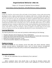 organizational behavior case study