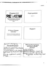 Chapters 9-12 Review Slides with Notes