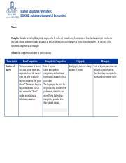 BSA542_MATRIX Market_Structures_Worksheet - Market ...