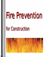 Fire Protection & Prevention for Const..ppt
