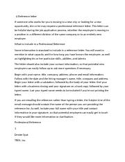 A Reference letter