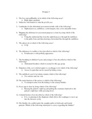 PA Practice Questions For Quiz 5