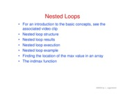 32. Nested loops