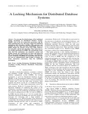 A Locking Mechanism for Distributed Database .pdf