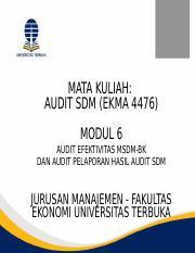 Modul Minggu 1 Pptx Mata Kuliah Audit Sdm Ekma 4476 Modul 1 Konsep Dasar Audit Dan Audit Sumber Daya Manusia Berbasis Kompetensi Jurusan Manajemen Course Hero