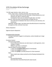 Biology 1620 Notes 2 Messina Spring 2014