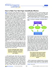 How to make your next paper scientifically effective