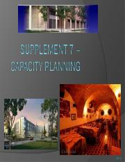 Supplement 7 - Capacity Planning.ppt