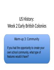 British Colonization in the US w Jamestown 2013.ppt