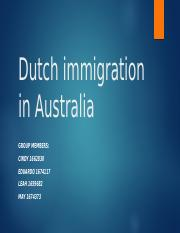 Dutch immigration in Australia123