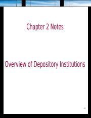 Chapter 2 Depository Institutions