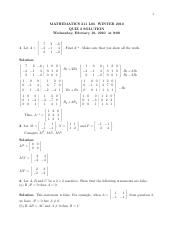 MATH 211 Winter 2010 Quiz 2 Solutions