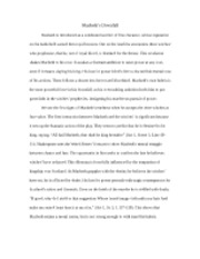 3 Pages Macbethu0026acirc;u20ac™s Downfall   Essay
