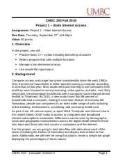 CMSC 202 - Project 1 - State Internet Access.docx