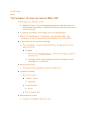 ICL The emergence of corporate america 1865-1900