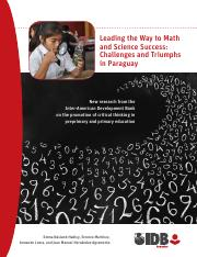 Leading the Way to Math and Science Success- Challenges and Triumphs in Paraguay.pdf
