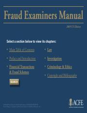 Fraud Examiners Manual