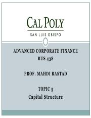 Topic5-Capital Structure