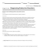 Diagnosing Endocrine Diseases docx - Name Class Date Guided