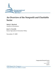 CRS Overview of Nonprofit Sector 2009 copy