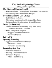 Chapter 16 - Health Psych