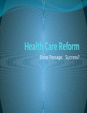 Class 16- Health Care Reform post passage.pptx
