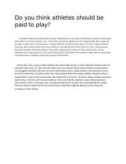 Do you think athletes should be paid to play 05.07.docx