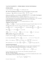 Handout 5 on Power Series and Taylor Polynomials