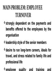 MAIN PROBLEM - Employee turnover.pptx