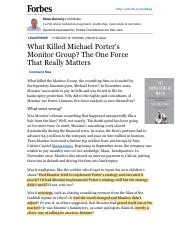 SLS.Denning.What Killed Michael Porters Monitor Group?Forbes