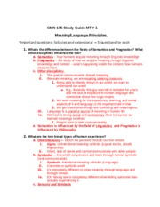 CMN105 MT1 Study Guide