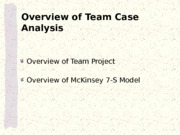 3_Overview of Team Project and McKengy 7-S