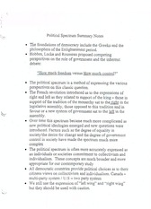 political spectrum summary  notes and quiz