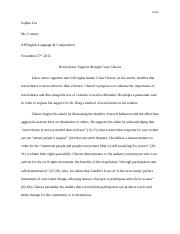 Thesis Statement Generator For Compare And Contrast Essay  Pages Rhetorical Analysis Essay Narrative Essay Examples High School also How To Write An Essay Thesis Cesarchavez  Stephanie Rodriguez Tejano Per  Cesar Chavez Essay  Essay On English Subject