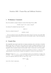 Cramer-Rao and Sufficient Statistics