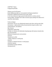 CHAPTER 7 Notes: Forging Group Bonds