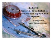 Introduction to Operations and Supply Chain Management CH 1