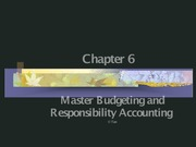 Cost Accounting - PowerPoint - Chapter 6 - Master budgeting