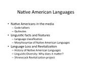 LIN 200 Week 7 Day 1 - Native American Languages