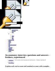 Accountancy interview questions and answers - freshers, experienced.html