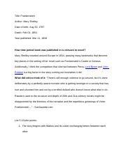 frankenstein essay frankenstein essay moral ambiguity in  4 pages mwds frankenstein