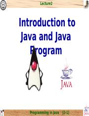 chap2_Introduction to Java Programs
