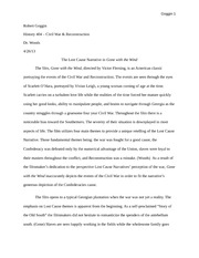 Final paper (incomplete) (Gone with the Wind)