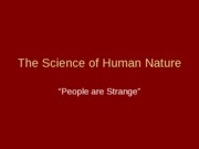 The_Science_of_Human_Nature