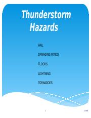 Lecture 21 Thunderstorm Hazards