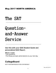 201705beimei pdf - May 2017 NORTH AMERICA The SAT