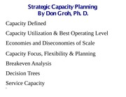 12 LECT NOTES (Strategic Capacity Planning)